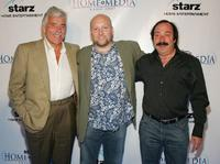 Dennis Farina, Zak Penn and Bill Clark at the opening night party of