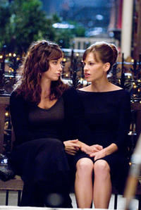 Gina Gershon and Hilary Swank in