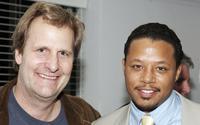 Jeff Daniels and Terrance Howard at the M.A.C Cosmetices