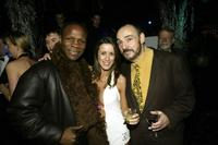 Chris Eubank, Nicola T and John Rhys-Davies at the premiere party of
