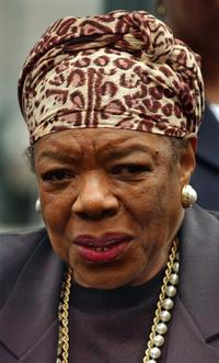 Maya Angelou at the African Slave Burial Ceremony.