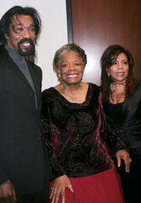 Nick Asford, Maya Angelou and Valerie Simpson at the Women In Film and Hallmark Channel Reception.