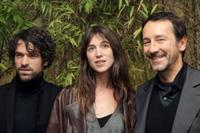 Romain Duris, Charlotte Gainsbourg and Jean-Hugues Anglade at the premiere of
