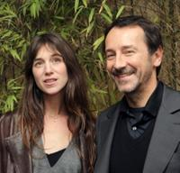 Charlotte Gainsbourg and Jean-Hugues Anglade at the premiere of
