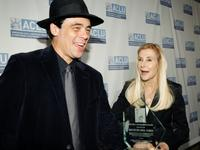 Benicio Del Toro and Ramona Ripston at the 2007 Bill of Rights Dinner.