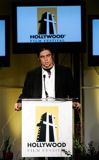 Benicio Del Toro at the Hollywood Film Festival 10th Annual Hollywood Awards Gala Ceremony.