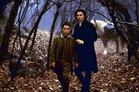 Marc Pickering as Young Masbath and Johnny Depp as Ichabod Crane in ``Sleepy Hollow.''