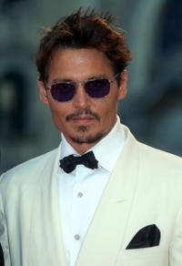 Johnny Depp at the Tim Burton Golden Lion For Lifetime Achievement Award ceremony in Venice, Italy.