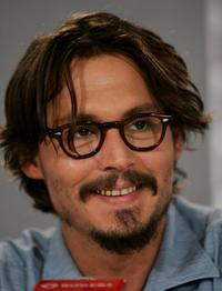 Johnny Depp at the press conference of