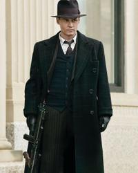 Johnny Depp as John Dillinger in