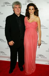 Pedro Almodovar and Penelope Cruz at the Sony Pictures Classics & The New York Film Festival screening of
