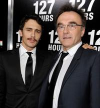 James Franco and Danny Boyle at the premiere of