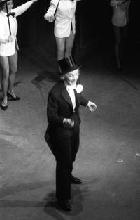 Marlene Dietrich performs at the Theater of Etoile.