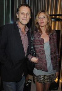 Charles Berling and Camille Japy at the Montblanc Paris Flagship Boutique inauguration cocktail party.