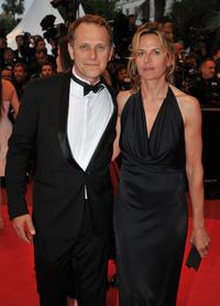 Charles Berling and his wife at the premiere of