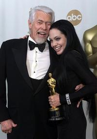 James Coburn and Angelina Jolie at the Academy Awards.