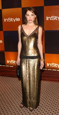 Claire Forlani at the InStyle Golden Globes after party.