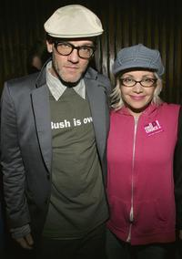 Janeane Garofalo and Michael Stipe at the Air America Radio Launch Party.