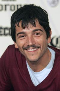 Diego Luna at the press conference.