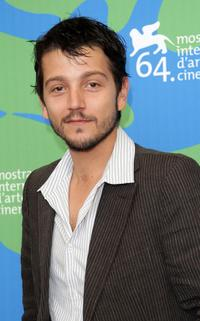 Diego Luna at the 64th Venice Film Festival for La Graine Et Le Mulet photocall.