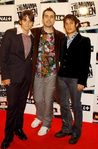 Diego Luna, Alfonso Cuaron and Gael Garcia Bernal at the premier of