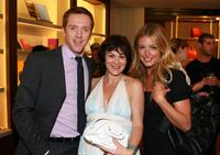 Damian Lewis, Helen McCrory and Cat Deeley at the Smythson, Rodeo Drive store launch party.