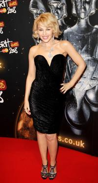Kylie Minogue at the Brit Awards 2008.