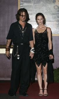 Johnny Depp and Vanessa Paradis at the French premiere of