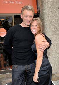 Callum Keith Rennie and Karen Bruce at the CMPA Producer's Award ceremony during the 35th Toronto International Film Festival.