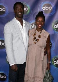 Isaiah Washington and wife Jenisa Marie at the ABC TCA party.
