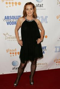 Angela Featherstone at the 19th Annual GLAAD Media Awards.