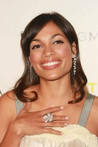 Rosario Dawson at the fifth Annual Art party and auction celebrating the Whitney Museum of American Art.