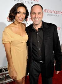 Rosario Dawson and producer Todd Black at the premiere of