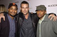 Seth Gilliam, Grayson McCouch and Guest at the launch of Oakley Thump and the December issue of Maxim.