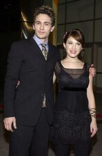 James Franco and his wife Marla Sokoloff at the premiere of