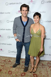 Johnny Whitworth and Sylvia Brindis at the Carbon Audio's Zooka Launch party in California.