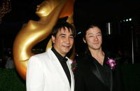 Tadanobu Asano and Toon Hiranyasap at the Bangkok International Film Festival 2006.
