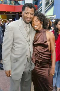 Malcolm D. Lee and Aunjanue Ellis at the premiere of