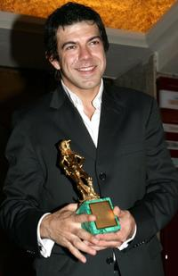 Pierfrancesco Favino at the Italian Film Academy's 50th David di Donatello Awards Ceremony.