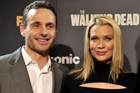 Andrew Lincoln and  Laurie Holden at the premiere of