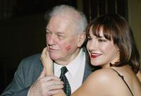 Charles Durning and Daisy Eagan at the all star reading of the play