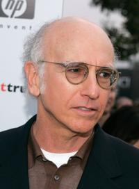 Larry David at premiere of