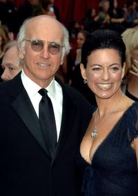 Larry David and Laurie Lennard David at the 79th Annual Academy Awards.