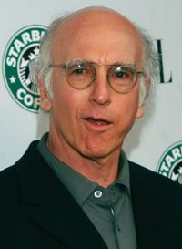Larry David at the Launch of ELLE Magazines Premiere Green Issue.