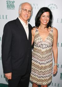 Larry David and Laurie David at Elles VIP reception to celebrate The Green Issue at Boulevard3.
