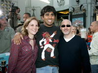 Dana Goldberg, Jay Chandrasekhar and Jeff Robinov at the premiere of