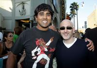 Jay Chandrasekhar and Jeff Robinov at the premiere of