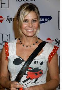 Nicole Eggert at the launch party to celebrate Diane von Furstenberg's limited edition designer mobile phone.