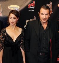 Berenice Bejo and Jean Dujardin at the third edition of the NRJ Cine Awards show.