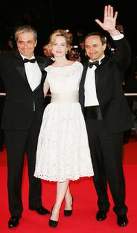 Konstantin Lavronenko, Maria Bonnevie and Director Andrei Zviaguintsev at the premiere of